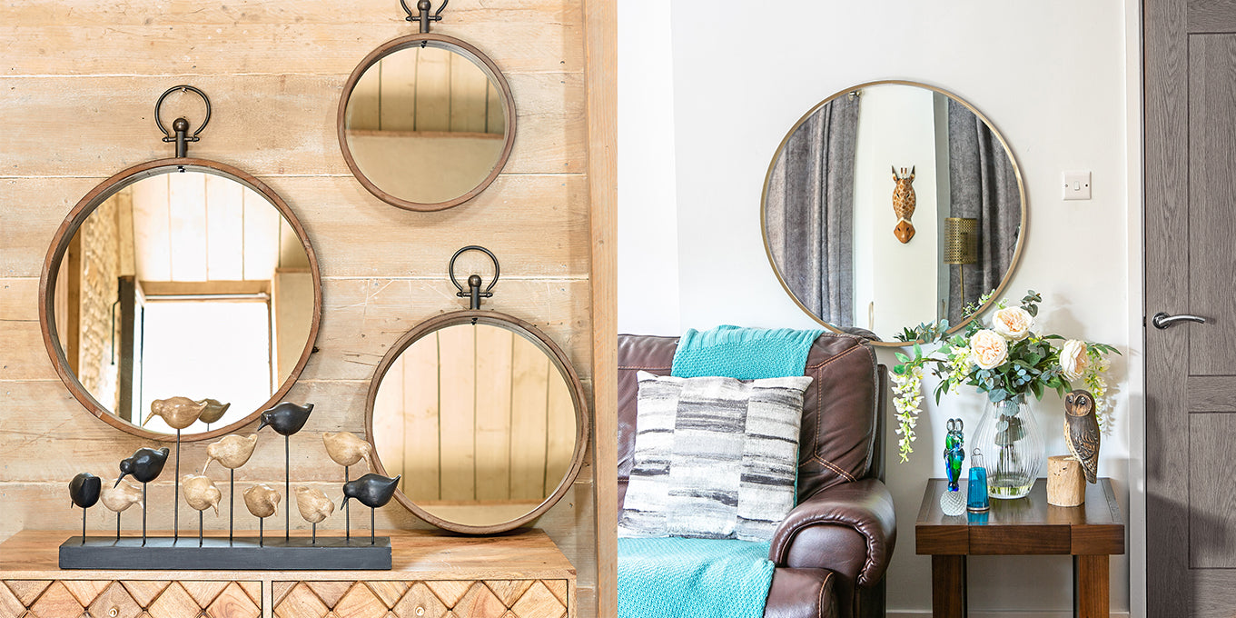 living room styles of mirrors