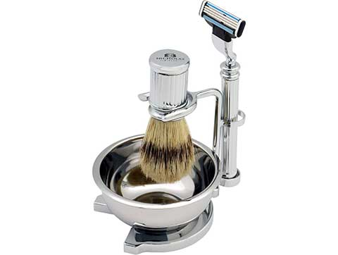 Traditional Silver Shaving Set