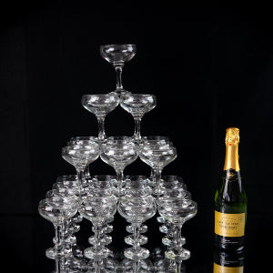 Rink Drink Champagne Tower with Bottle