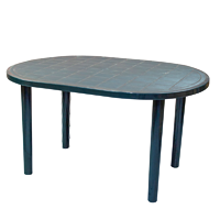 Resol Gala Oval Outdoor Garden Dining Table Green