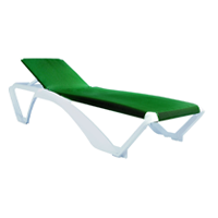 Resol Marina Adjustable Outdoor Garden Swimming Pool Sun Lounger Green