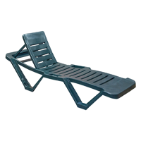 Resol Master Adjustable Outdoor Garden Swimming Pool Sun Lounger Green