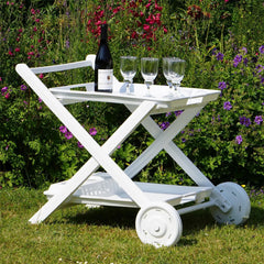 Resol Roses Drinks Trolley - White