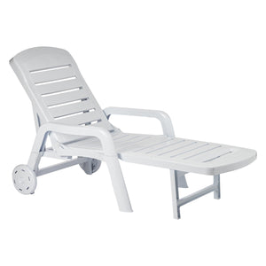 Resol Palamos Folding Sun Lounger - White