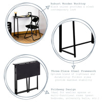 Harbour Housewares Folding Computer Desk