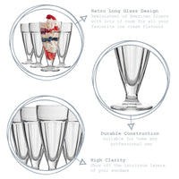 Argon Tableware Ice Cream Sundae Glasses - 350ml - Pack of 4