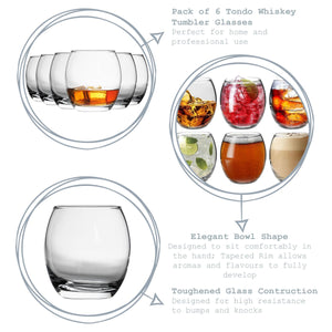 Argon Tableware Glass Juice Tumblers