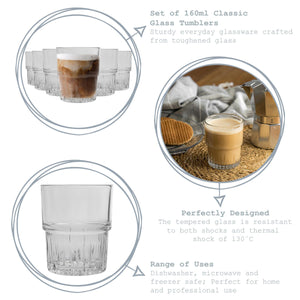 Duralex Empilable Stacking Tumblers - 160ml - Set of 6