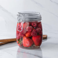 Argon Tableware Food Storage Jars with Clip Top Lid