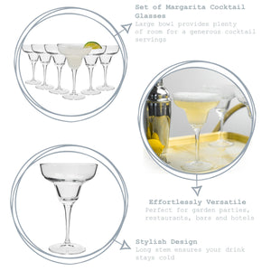 Bormioli Rocco Ypsilon Margarita Cocktail Glasses - Set of 6