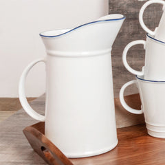 Nicola Spring Farmhouse Milk / Water Jug with Spout - 1 Litre