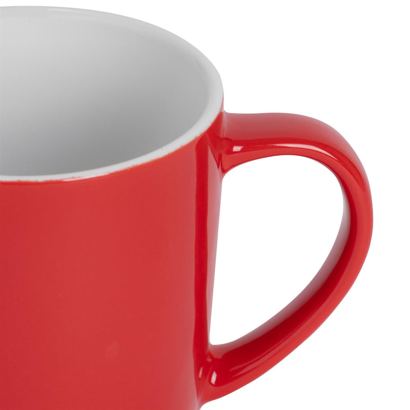 Argon Tableware Coloured Coffee Mug - 350ml - Red