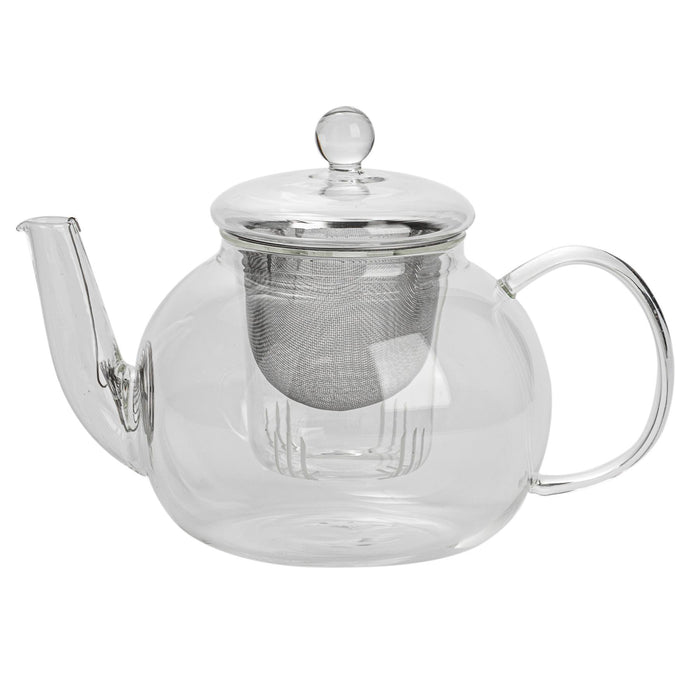 Argon Tableware Glass Teapot For Loose Leaf Tea with Strainer - 1.1L