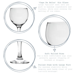 Rink Drink Gin and Tonic Glasses - Set of 6