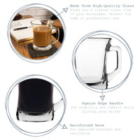 LAV Zen+ Coffee Glasses - 225ml - Pack of 6