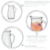 Argon Tableware Tallo Glass Water Jug - 1.8 Litre