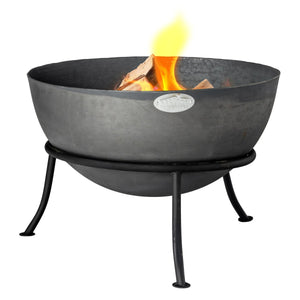 Harbour Housewares Cast Iron Garden Fire Pit - 60cm