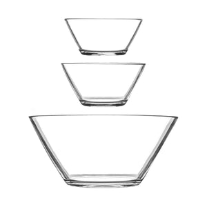 Argon Tableware Glass Serving Bowls Set of 7