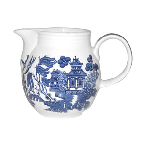 Churchill Blue Willow Georgian Milk Jug - 850ml - Blue