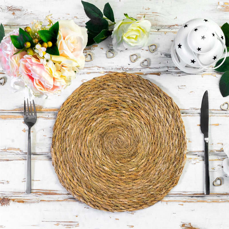 rustic natural table place mats