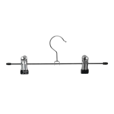 Harbour Housewares Metal Non-Slip Clip Trouser Hanger - Chrome