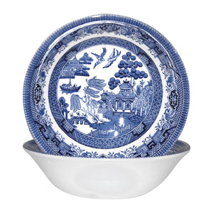 Churchill 6 Piece Blue Willow Georgian Dessert Bowls Set - 15.5cm - Blue