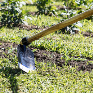Garden Digging Hoe with Full Length 120cm Wooden Handle