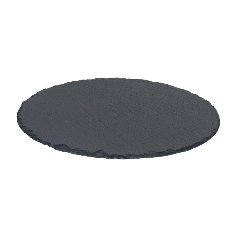 Argon Tableware 330mm Rustic Round Slate Serving Platter