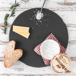 Round slate serving trays