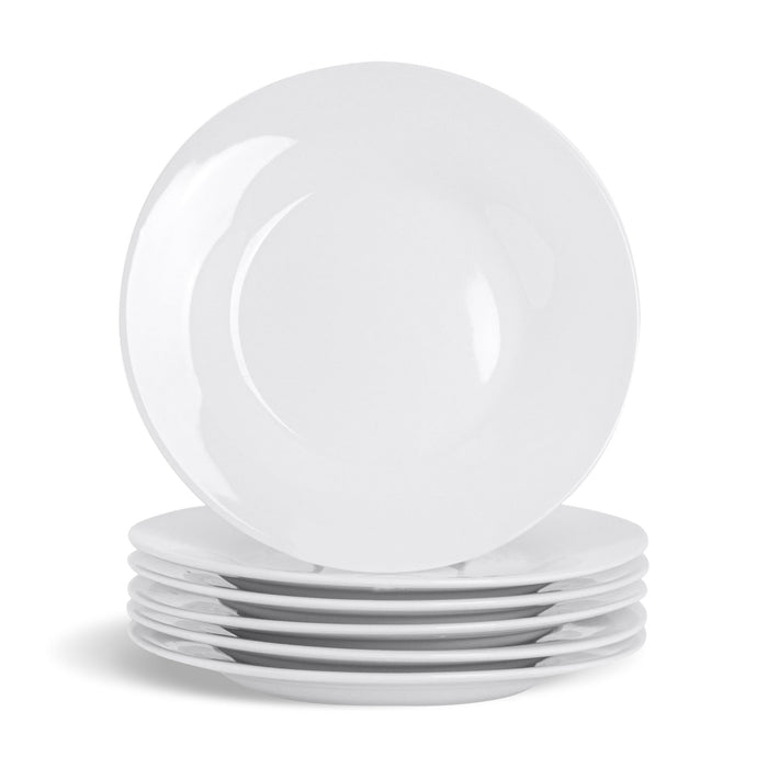 Argon Tableware 6 Classic Wide-Rimmed China Side Plates - 154mm