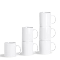Argon Tableware Set of 6 Classic China Coffee Mugs - 285ml