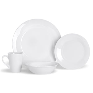 Argon Tableware 16 Piece White Crockery Set