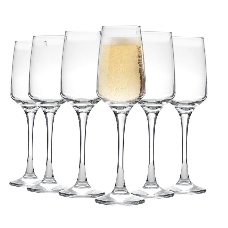 Argon Tableware Tallo Champagne Flutes - 230ml - Pack of 6