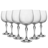Bormioli Rocco 6 Piece America '20s Gin and Tonic Glasses Set - 240ml