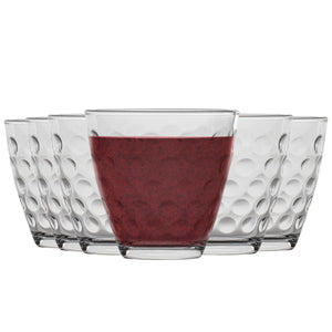 Bormioli Rocco Dots Dimpled Whiskey Glasses - 250ml - Pack of 6