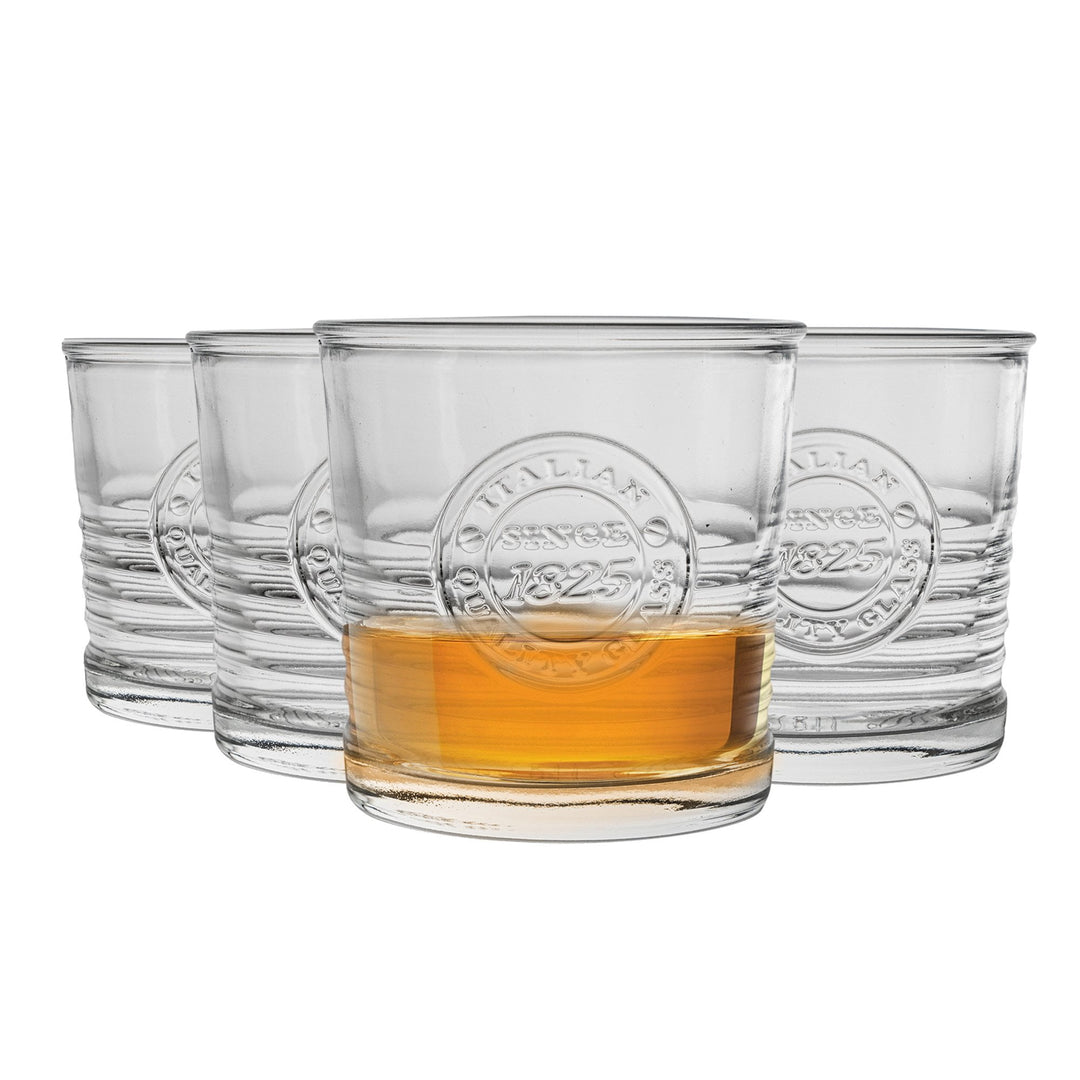 Bormioli Rocco Officina 1825 Double Whisky Glasses - 300ml - Pack of 4