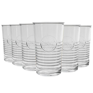 Bormioli Rocco Officina 1825 Highball Glasses - 475ml - Pack of 6