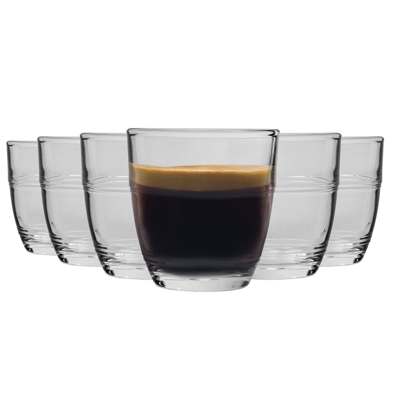 Duralex Gigone Tumbler Glasses - 90ml - Set of 6
