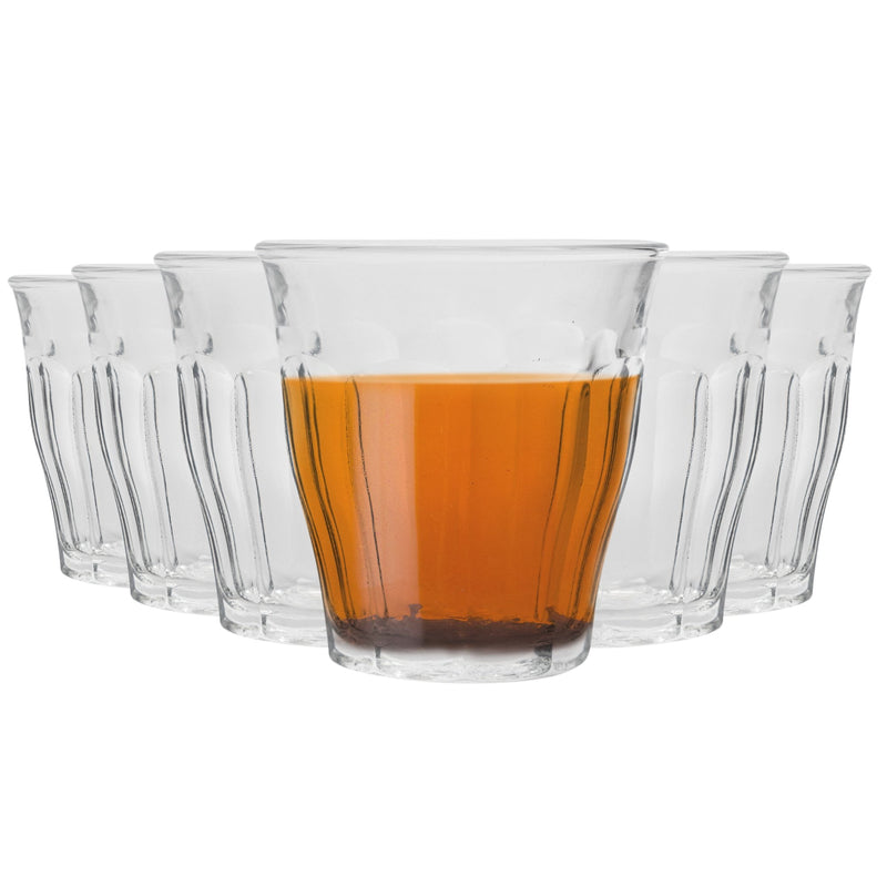 Duralex Picardie Traditional Tumbler Glasses - 130ml - Set of 6