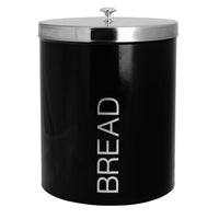 Harbour Housewares Metal Bread Bin - Black