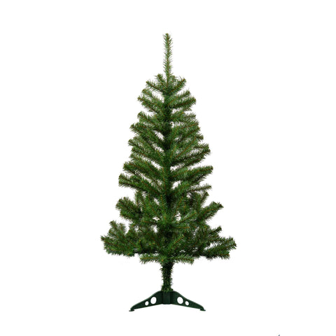Harbour Housewares 4ft Artificial Pine Christmas Tree With Stand