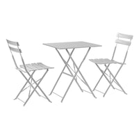 Harbour Housewares 3 Piece Sussex Bistro Set - Square - White