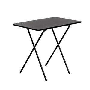 Harbour Housewares Small Wooden Folding Desk - Black