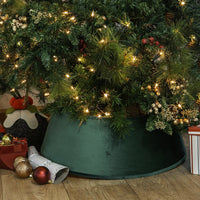 Harbour Housewares Velvet Christmas Tree Skirt - 54cm - Green