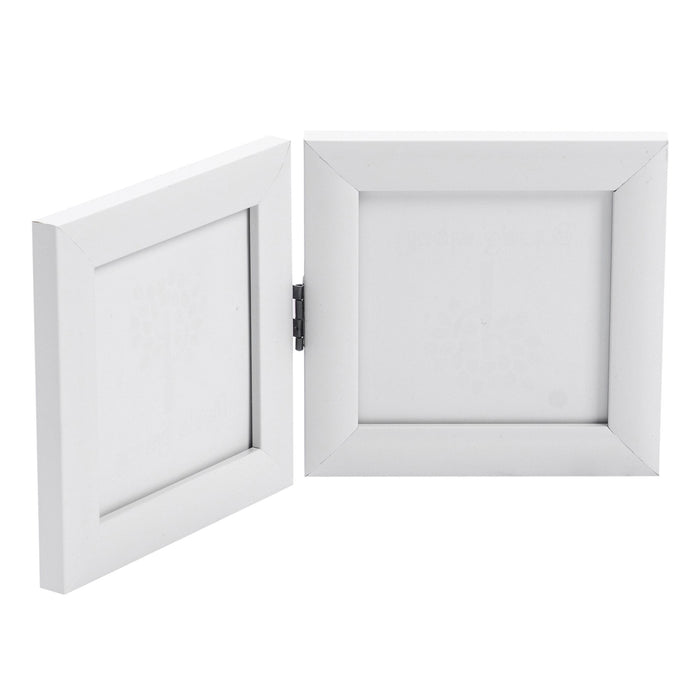Nicola Spring 4x4 Standing Picture Frame (2 Photo) - White