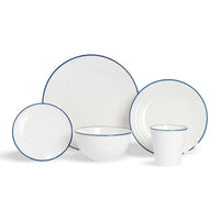 Nicola Spring 20 Piece Farmhouse White Dinner Set