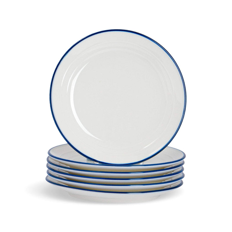 Nicola Spring Farmhouse White Side Plates - 16cm - Pack of 6