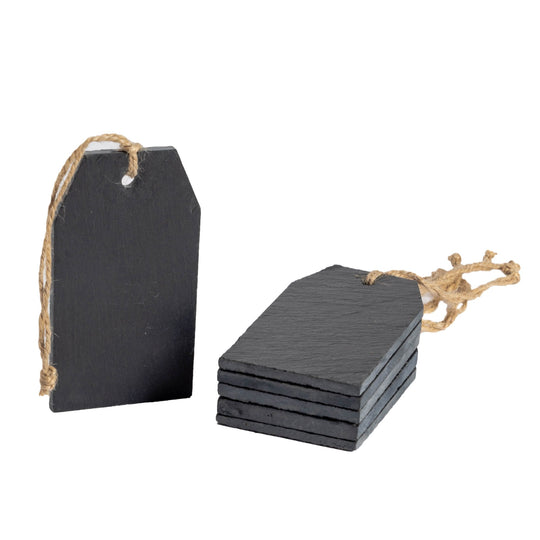 Nicola Spring Natural Slate Hanging Tags - Pack of 6