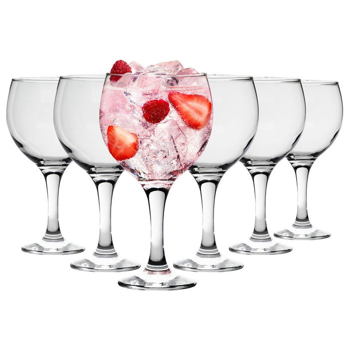 Rink Drink 6 Gin Glasses for Gin & Tonic - Spanish Balloon Glass