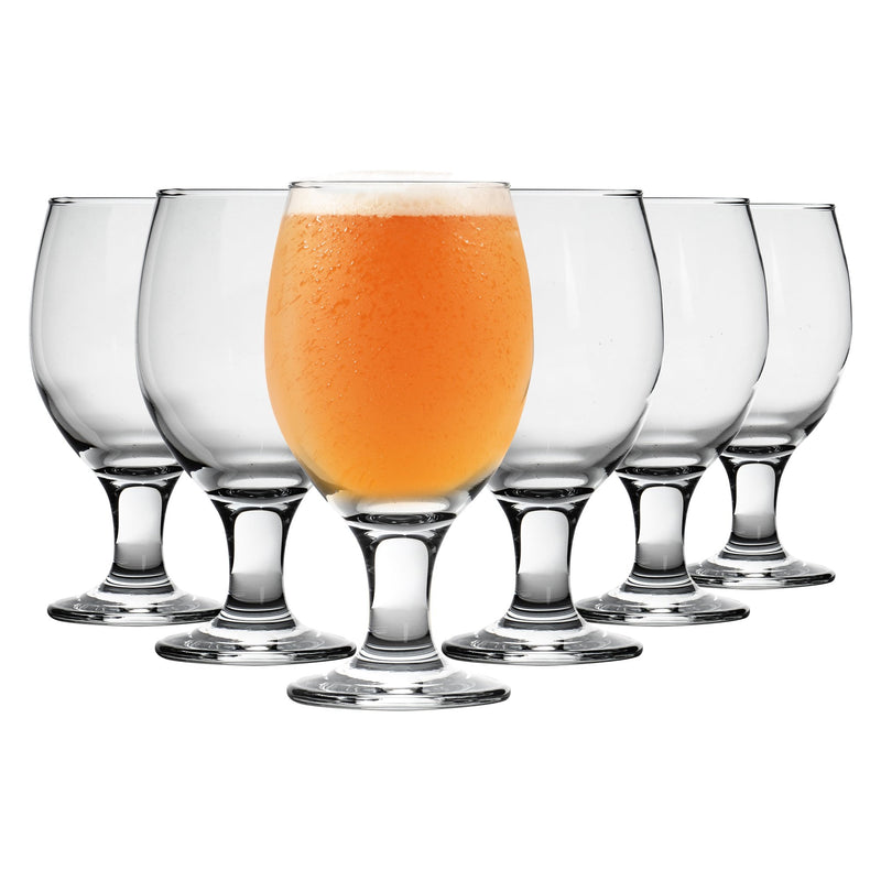 Rink Drink Craft Beer & Ale Glasses - 400ml - Set of 6